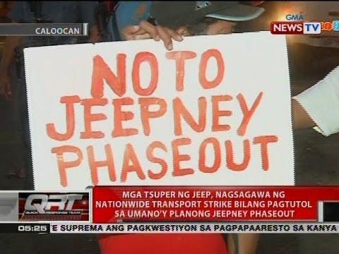 QRT: Mga tsuper ng jeep, nagsagawa ng nationwide transport strike bilang pagtutol jeepney phaseout