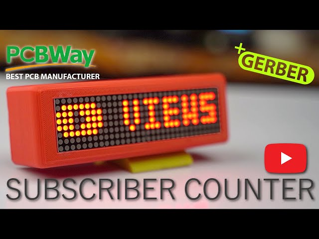 PCBWAY.COM Smart Portable YouTube Subscriber Counter Professional PCB in $5