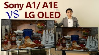 Sony A1/ A1E vs LG C7 2017 OLED TV Comparison Review