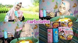 Gambar cover Enaknya Makan Samyang Carbonara + Minum Olatte || Makanan & Minuman KOREA YG HALAL