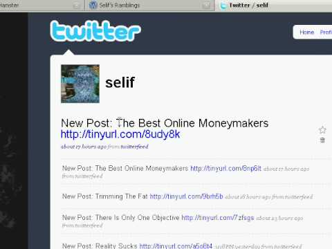 How To Use Twitterfeed To Update Twitter With Your Latest Blog Posts