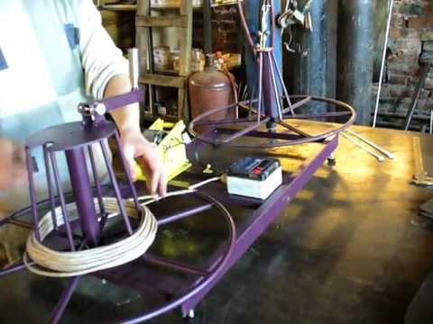 видео: Станок для перемотки кабеля МПК 0,5-30Р