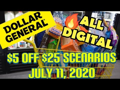 DOLLAR GENERAL ALL DIGITAL SCENERIOS SATURDAY 7/11 ONLY / Dollar General Couponing With Low OOP