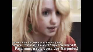Teste de  Evanna Lynch para  Luna Lovegood - Harry Potter