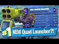 Quad Launcher Gameplay + Skull Trooper Challenges - Fortnite Battle Royale