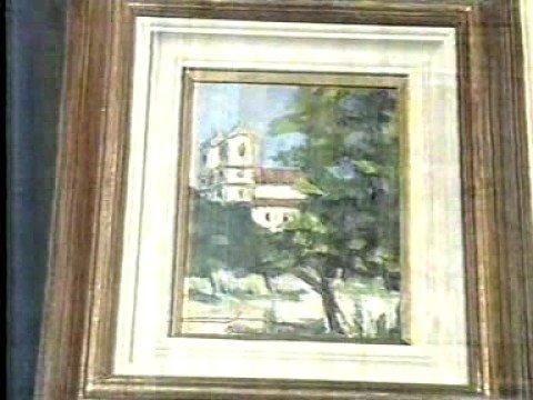 Licurgo Neto - Quadro presenteado a Clodovil - TV MANCHETE