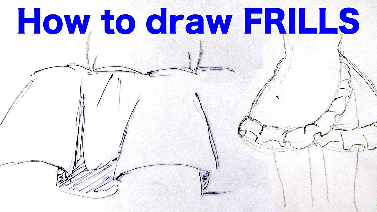 Step By Step Tutorial How To Draw Anime Frills By Japanese Veteran Animator  Hinoe|ひのえさんのフリルの描き方