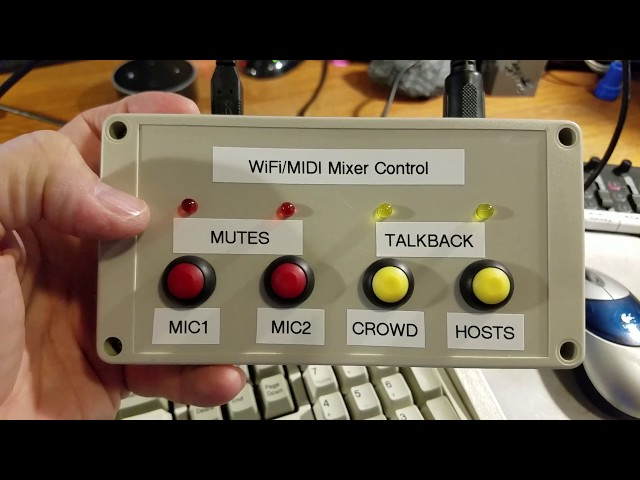 ESP32 based Behringer XR18/X-Air WiFi/MIDI Mixer Control - Proof of Concept