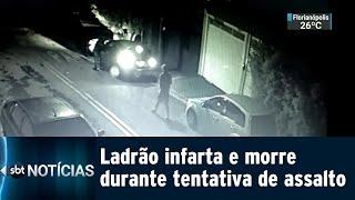 Ladrão infarta e morre durante tentativa de assalto | SBT Notícias (28/01/2019)
