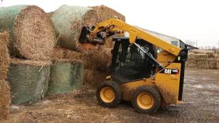 Cat® Bale Spear Work Tool Attachment at Work