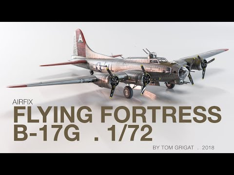 Airfix Flying Fortress in motion - stop motion