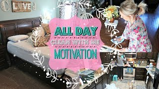 ALL DAY CLEAN WITH ME//Extreme Cleaning Motivation//Day In The Life Cleaning Routine 2017