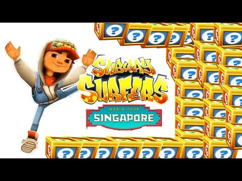 Subway Surfers Singapore Gamelay HD #181 💗 JAKE Mystery Boxes Opening ☺ Kim Jenny 100