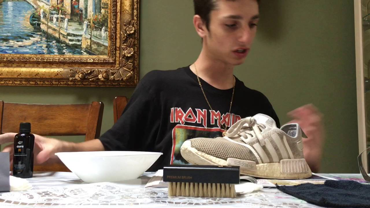 456368d6247b7 CLEANING THE ADIDAS NMDS ALL WHITE - YouTube