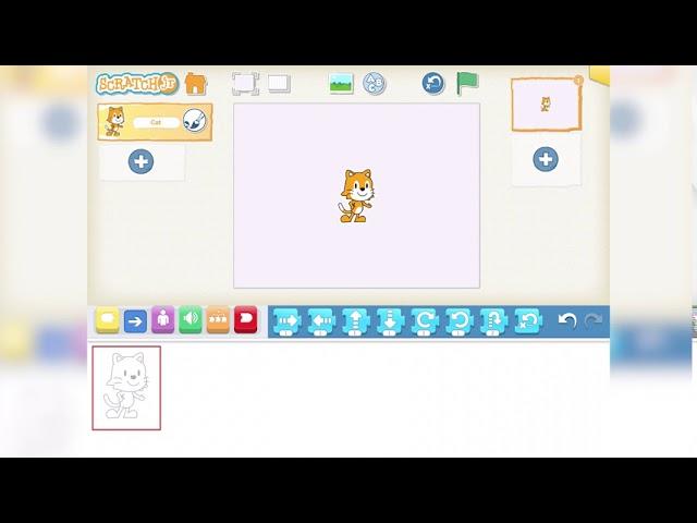 Scratch Jr - Benutzeroberfläche