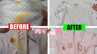 How to Get Stains out of Baby Clothes | Testing OxiClean and More!