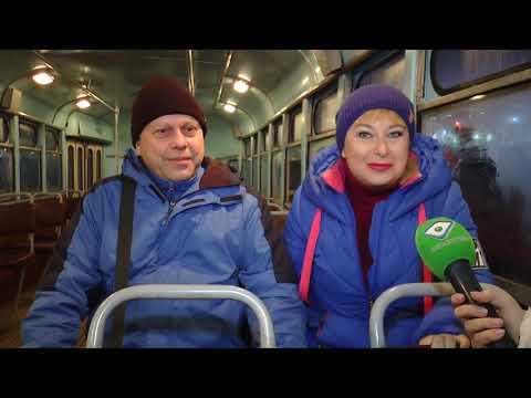 ObjectivTv: На День святого Валентина Харковом їздив ретро-трамвай із закоханими