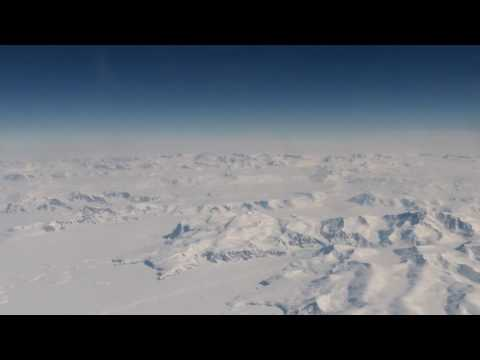 Flying over the Transantarctic Mountains, view from C-17
