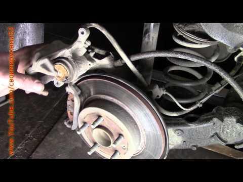 Ремонт заклинивших тормозных колодок Chevrolet Cruze