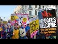 📢 REFUGEES WELCOME Protest Against Racism and Fascism LONDON MARCH 🇬🇧