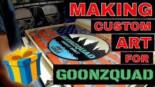 Making a Carbon Fiber American Flag for GOONZQUAD