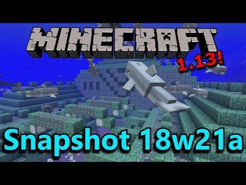 Minecraft 1.13 Snapshot 18w21a- Dolphin Treasure Hunting, Bug Fixes