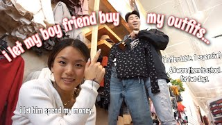 MY BOY FRIEND BUYS MY OUTFITS (affordable vs. expensive) | Vanessa Nagoya