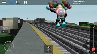 Roblox railfanning // ro scale North East corridor // elizabeth station // ROBLOX