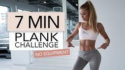 7 MIN PLANK CHALLENGE / No Equipment | Pamela Rf