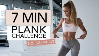 7 MIN PLANK CHALLENGE / No Equipment | Pamela Rf