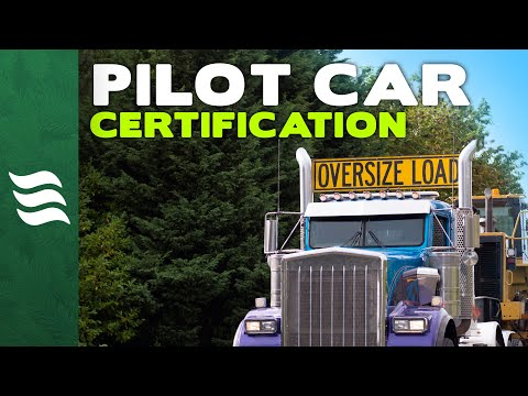 Become A Certified Pilot Car Operator Online! (Oversize Load Escort Vehicle Training)