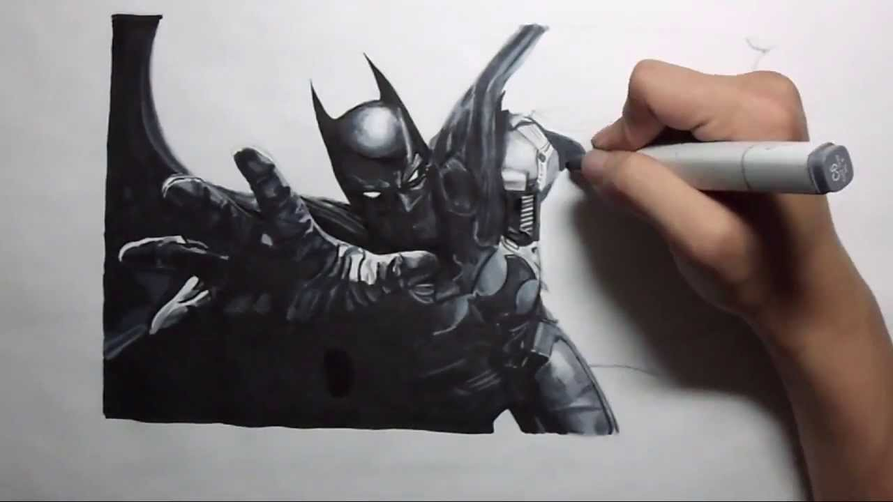 Arkham Origins Batman Drawing YouTube