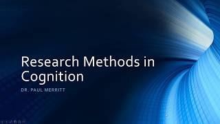 Cognition 1.3 - research methods in ...