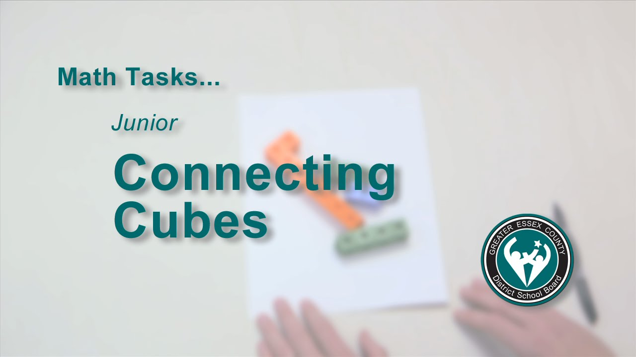 Math Tasks: Junior - Connecting Cubes - YouTube