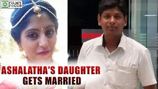 Repeat youtube video Ashalatha's Daughter Gets Married | filmyfocus.com