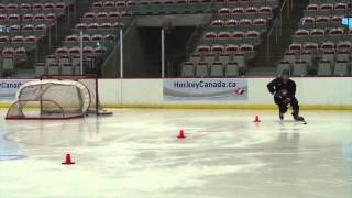 Skating & Puck Control - Puck on Forehand Pivots