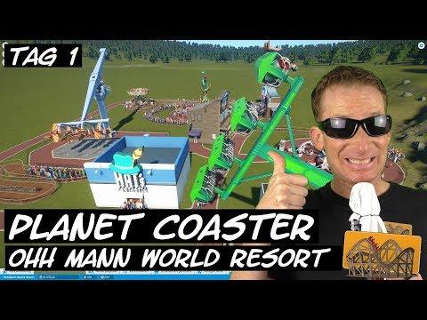 Planet Coaster OhhMann World Resort Tag 1 | Funfair Blog #148 [HD]
