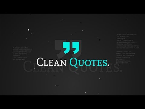Clean Quotes | After Effects template
