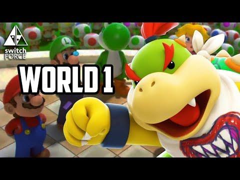 Mario + Rabbids Kingdom Battle Gameplay - MORE WORLD 1 + BOSS - FULL GAME (Nintendo Switch)