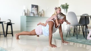Home CrossFit Style Tabata Workout - w/ Kids -