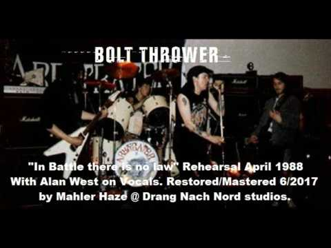 Bolt thrower (UK) Rehearsal for IN BATTLE THERE IS NO LAW. April 1988 (With Alan West!!) mp3