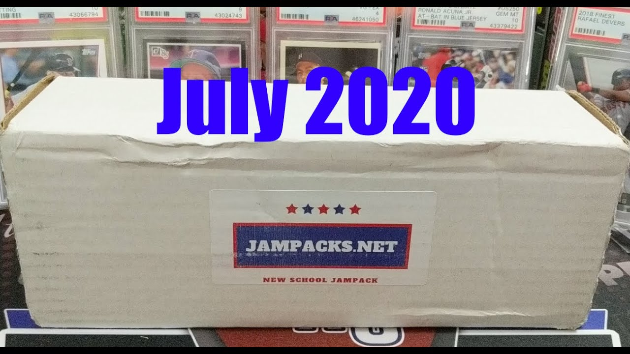 Jampacks.net New School Baseball Card Subscription Box July 2020 Hall of Fame Auto Hobby Packs  +