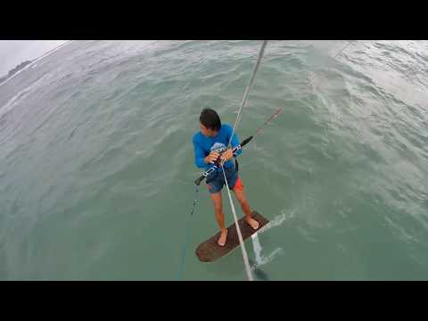 Foiling at Lhoknga Beach in Banda Aceh
