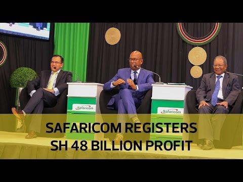 Safaricom registers Sh48 billion profit