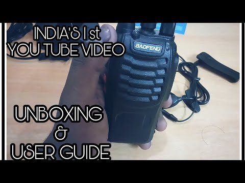 INDIA'S 1st UNBOXING | USER GUIDE| BAOFENG BF-888S Walkie- Talkie || REVIEW - UNBOXING - USER GUIDE