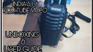 Video INDIA'S 1st UNBOXING | USER GUIDE| BAOFENG BF-888S Walkie- Talkie || REVIEW - UNBOXING - USER GUIDE download MP3, 3GP, MP4, WEBM, AVI, FLV Juni 2018