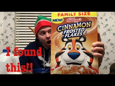 CINNAMON FROSTED FLAKES CEREAL FUN FOOD REVIEW | THE SHOWSTOPPER SHOWS