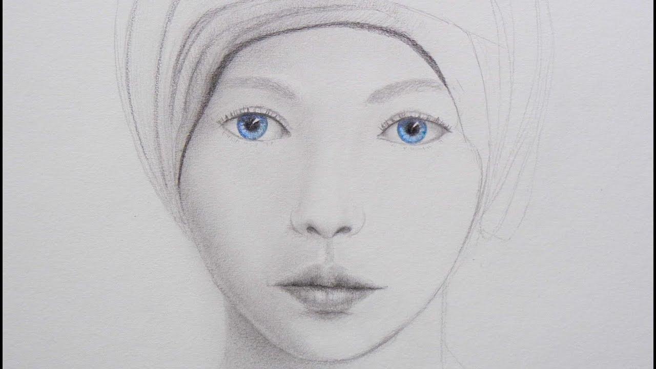 Cmo dibujar un rostro con ojos azules  Arte Divierte  YouTube