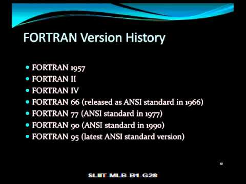 Fortran Vs Algol Video - Part 1