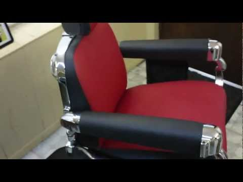 """1950's Belmont Barber Chair Restoration Finished Product HD Video """"AFTER"""""""